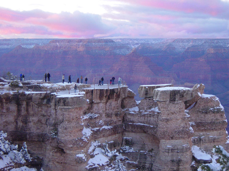 Grand Canyon South Rim During Winter